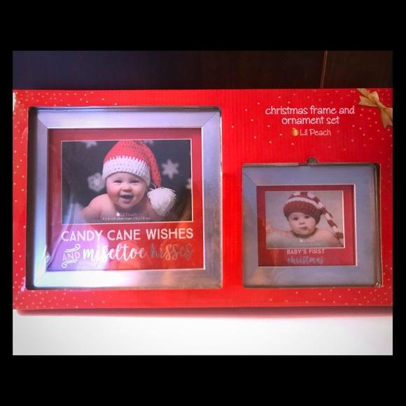 Lil Peach Other New Babys 1st Christmas Frame Ornament Set Poshmark
